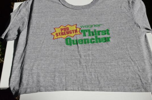 Vintage 1980s Wagner Thirst Quencher Gray Belly T-Shirt XL