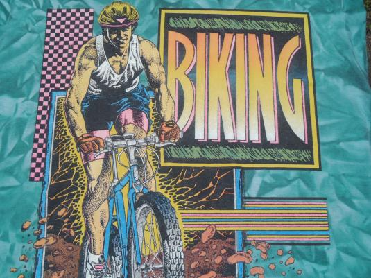 Vintage 1980s/90s Biking Florida Acid Wash T-Shirt L