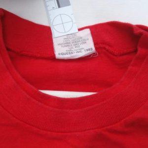 Vintage 1989 Guess Endurance Run Long Sleeve Red T-Shirt