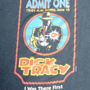 Vintage 1991 Dick Tracy Premiere Black T-Shirt XL