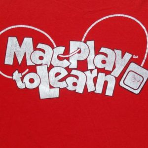 Vintage 1990s Mac Play and Learn Red T Shirt XL