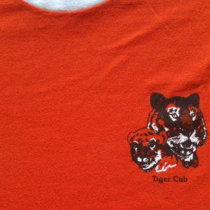 Vintage 1980s Tiger Cub Boy Scouts Orange Ringer T-Shirt M