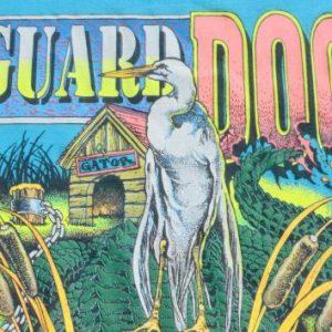 Vintage 1980s Guard Dog Gator Florida Aqua T-Shirt XL