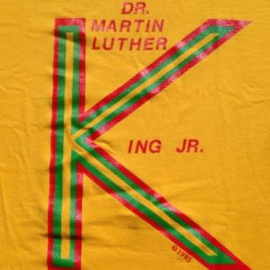 Vintage 1990s Martin Luther King Yellow T-Shirt L