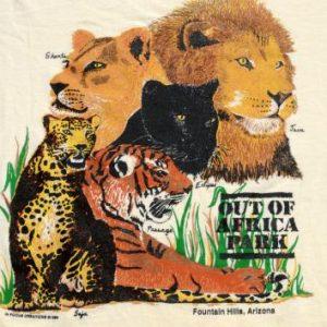 Vintage 1989 Out of Africa Souvenir Yellow T-Shirt L