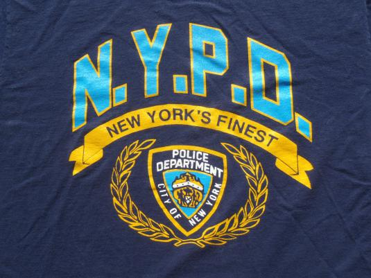 Vintage 1980s New York Police Department NYPD Blue T-Shirt L