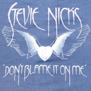Vintage 1982 Stevie Nicks Concert Tour Blue T Shirt S/M
