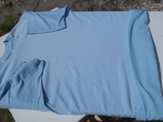 Vintage 1970s Light Blue T-Shirt M/XL Sears Body Wear