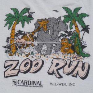 "Vintage 1980s ""Zoo Run"" T Shirt M"