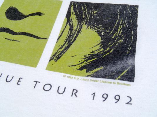 Vintage 1990s kd lang Ingenue White Concert Tour T-Shirt XL