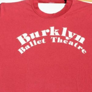 Vintage 1980s Burklyn Ballet Red T-Shirt L