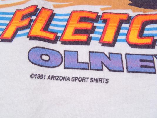 Vintage 1991 Fletchers Amoco Race Car White T-Shirt L