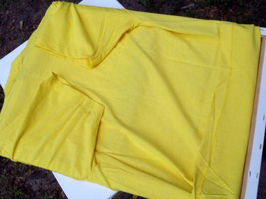 Vintage 1980s Yellow Left Handed Funny T-Shirt XL
