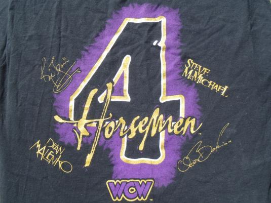 Vintage 1998 WCW 4 Horsemen Wrestling Black T Shirt XL