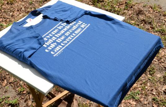 Vintage 1980s Left Handed Blue Novelty Graphic T Shirt L