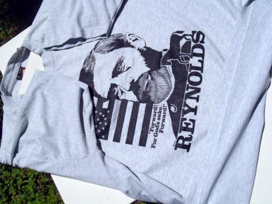Vintage 1980s Civil War Reynolds Gettysburg Gray T-Shirt