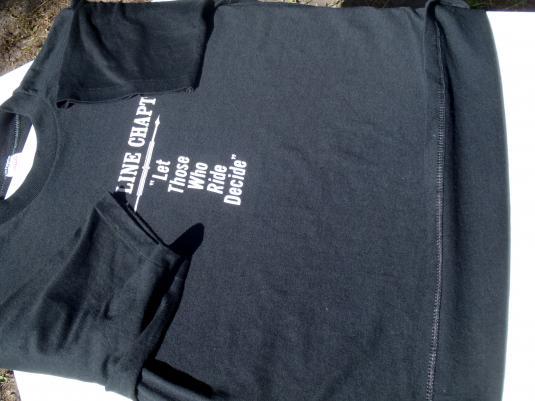 Vintage 1980s Black Abate of Florida Motorcycle T-Shirt L