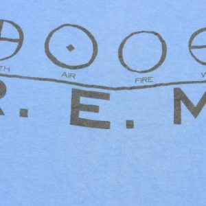 Vintage 1987 REM Metal Green Concert Tour Blue T Shirt L