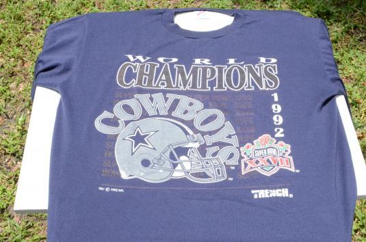 Vintage 1993 Dallas Cowboys Champions Blue T-Shirt L