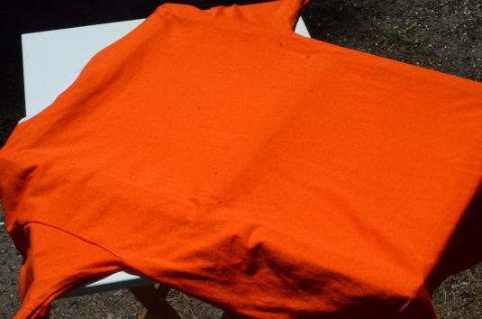 Vintage 1990s Boy Scouts Tiger Cub Orange Ringer T-Shirt L