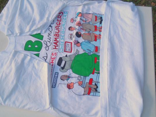 Vintage 1980s Babar Does Lunch HBO White T-Shirt M
