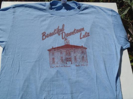 Vintage 1980s Beautiful Downtown Lutz T-Shirt L/XL
