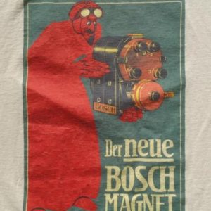 Vintage 1990s Bosch Magneto Lucian Bernhard Beige T Shirt L