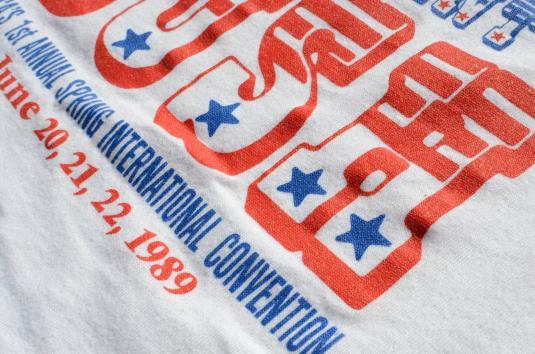 Vintage 1989 George Bush Richmond Rally White T Shirt XL