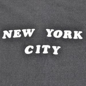 1970s New York City Puffy Letter Souvenir Vintage T-Shirt