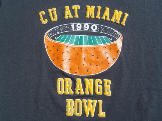 Vintage 1990 Orange Bowl T-Shirt L