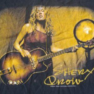 Vintage 1999 Sheryl Crow Globe Sessions Black Cotton T-Shirt