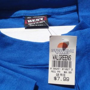 Vintage NOS 1990s New Smyrna Beach Dolphins Blue T-Shirt XL