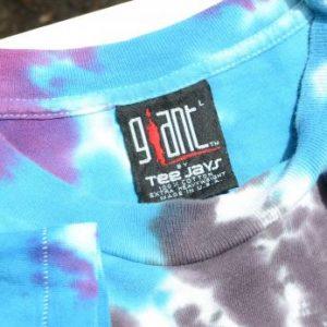 Vintage 1992 Def Leppard Adrenalize Tie Dye Blue T Shirt L