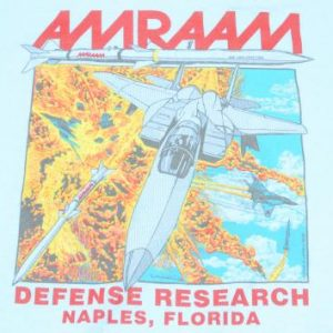 Vintage 1992 AMRAAM F-16 Light Blue T-Shirt