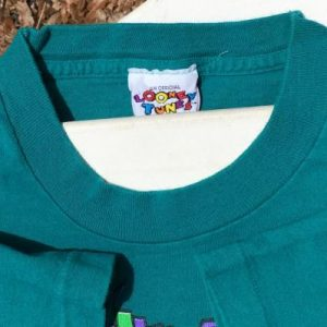 Vintage 1990s Tweety Bird Warner Brothers Aqua T-Shirt XL