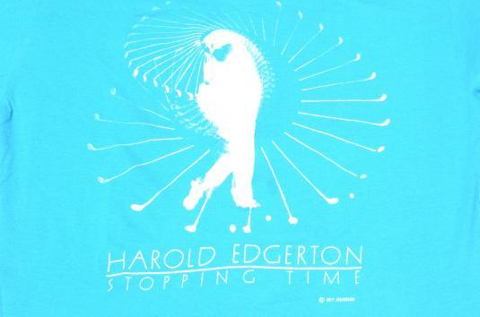 Vintage 1987 Harold Edgerton Stopping Time T-Shirt XL