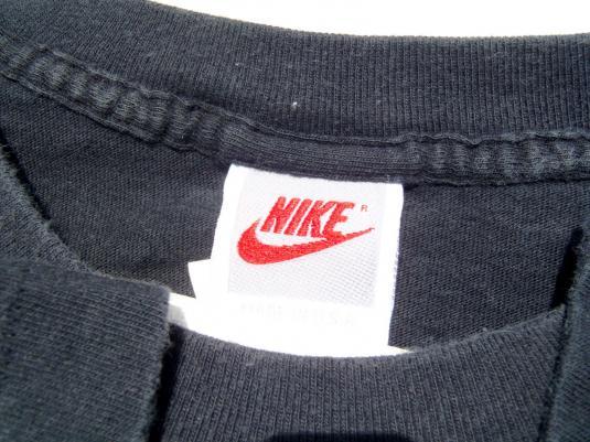 Vintage 1990s Black Sir Charles Barkley Nike Cotton T Shirt XL