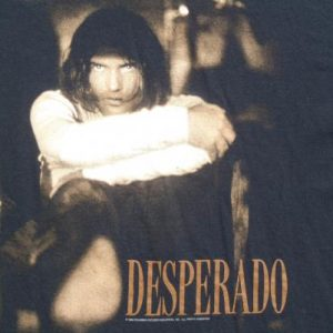Vintage 1995 Desperado Antonio Banderas Movie Black T Shirt