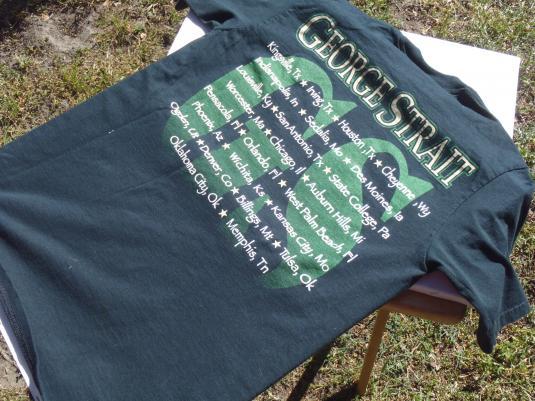 Vintage 1990s George Strait Concert Tour Black T-Shirt M