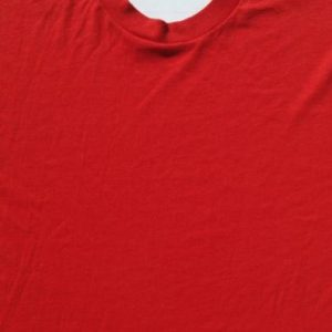 Vintage 1980s Blank Red T Shirt M/XL by Screen Stars