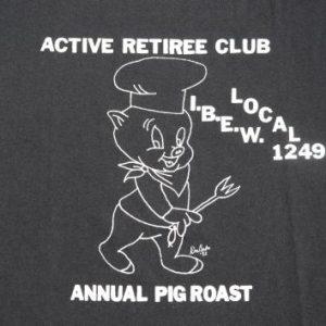 Vintage 1992 IBEW Local 1249 Retirees Black T-Shirt XL