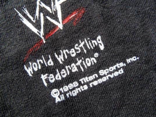 Vintage 1998 Stone Cold Steve Austin WWF Black T Shirt L