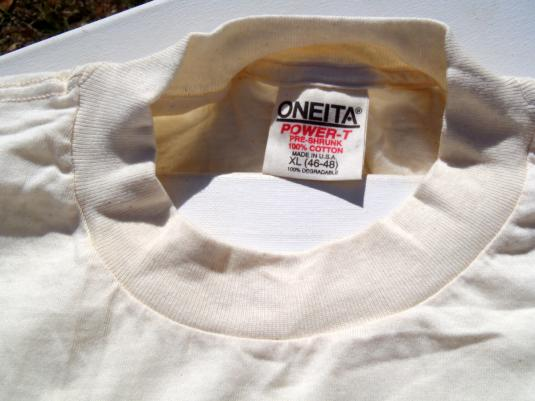 Vintage 1990s HBO Cinemax Beige T-Shirt XL