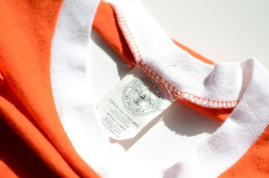 Vintage 1980s Boy Scouts Tiger Cub Orange Ringer T-Shirt L