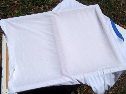 Vintage 1980s Voice of America White Ringer T-Shirt XL