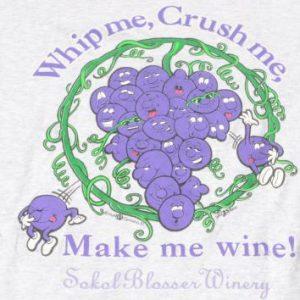 Vintage 1995 Sokol Blosser Winery Grey T Shirt L