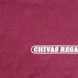 Vintage 1980s Chivas Regal Scotch Burgundy T-Shirt M/L
