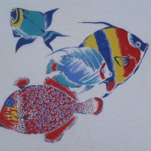 Vintage 1970s Tropical Fish T-Shirt