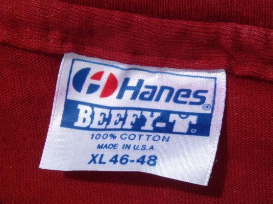 Vintage 1980s Hanns Kornel Champagne Red Cotton T-Shirt XL