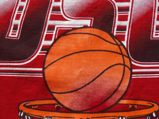 Vintage 1980s OSU Lady Buckeyes Basketball Red T Shirt XXL